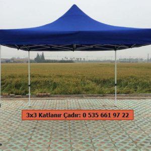 3x3 Katlanır Çadır Tente Mavi